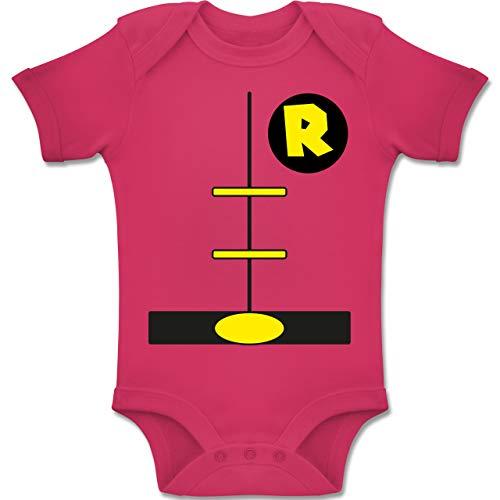 Shirtracer Karneval und Fasching Baby - Superheld Kostüm Kind - 12-18 Monate - Fuchsia - BZ10 - Baby Body Kurzarm Jungen Mädchen (Superheld Kostüm 12 18 Monate)
