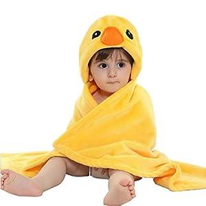 VLUNT bebé Toalla de baño, Manta de Franela Ultra Suave baño Wrap Toalla con Capucha una Pieza sleepswear Túnica Albornoces 13