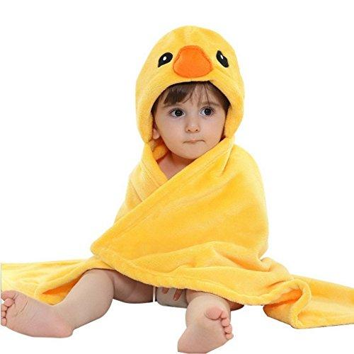 dingang-kids-asciugamani-in-cotone-con-cappuccio-animal-shaped-bagno-con-coperta-0-6-anni-giallo-duc