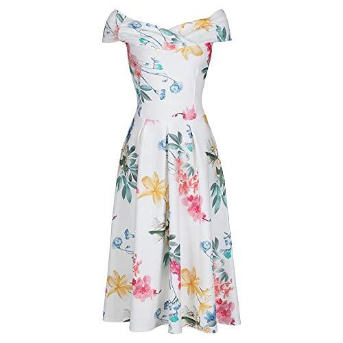 bd3701d5a5ba Pretty Kitty Fashion - Vestido - para Mujer Blanco Blanco 44