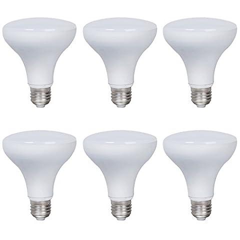 6-Pack Boîtier en aluminium non dimmable LED Ampoules R90 E27 Base 12w (75w équivalent) Angle de faisceau de 180 degrés (Daylight 6000K)