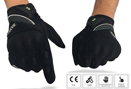 Gants Moto et Scooter Homologués MAXAX - Gant Tactile Homologué 1KP selon La Norme Européenne CE - Confortable et de Qualité - Unisexe et Mi-saison - Taille M L XL