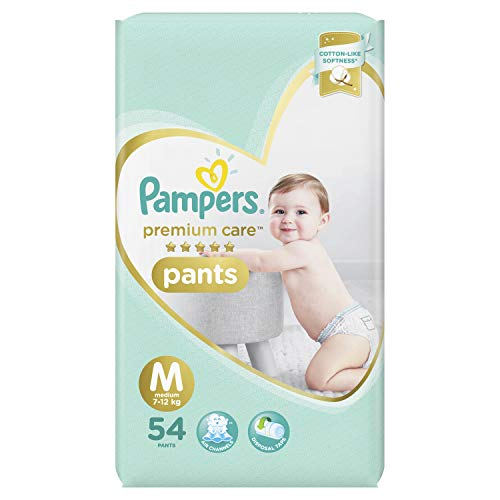 Pampers Premium Care Pants Diapers, Medium, 54 Count