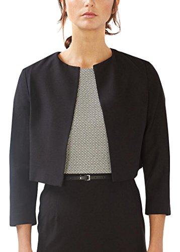 ESPRIT Collection Damen Blazer 997EO1G802, Schwarz (Black 001), 42 (100% Blazer Polyester)