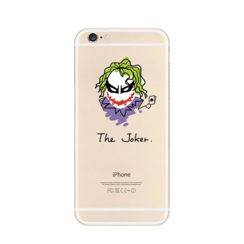 New Marvels Avenger Transparent Clear TPU Soft Case For Apple IPHONE 8 PLUS CATWOMEN JOKER 1