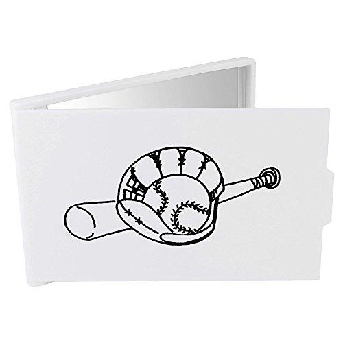 Azeeda 'Baseballschläger und Handschuh' Taschenspiegel / Kosmetikspiegel (CM00012470)