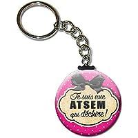 Je suis une ATSEM qui déchire Porte clés chaînette 38mm ( Idée Cadeau Fin d'année Scolaire École Noël Remerciement )
