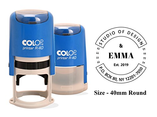 Timbro Autoinchiostrante Colop R-40 Indirizzo Stampa Gomma Con Timbro Personalizzato Anno