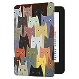 Huasiru Gemälde Hülle Schutzhülle für Der Neue Kindle (nur 10. Generation - 2019) Case Cover mit Auto Schlaf/Wach Funktion, Katzen