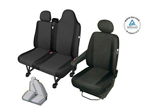 RENAULT MASTER 3 Sitzbezüge Sitzschoner Set Fahrersitz + Doppelbank (Zweierbank mit geteilte...