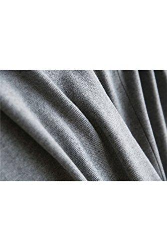 Yacun Frauen stricken gerade breite Knöchel Hose Grey