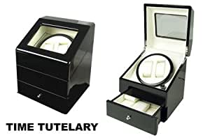 Time Tutelary Dual Watch Winder with Drawer KA073