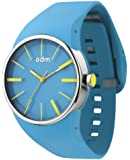 ODM Blink II Unisex Quartz Watch with Blue Dial Analogue Display and Blue Silicone Bracelet DD131A-04