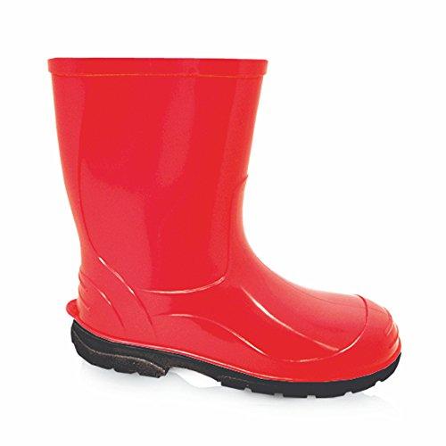 LEMIGO , bottes en caoutchouc mixte enfant Rouge - Rouge