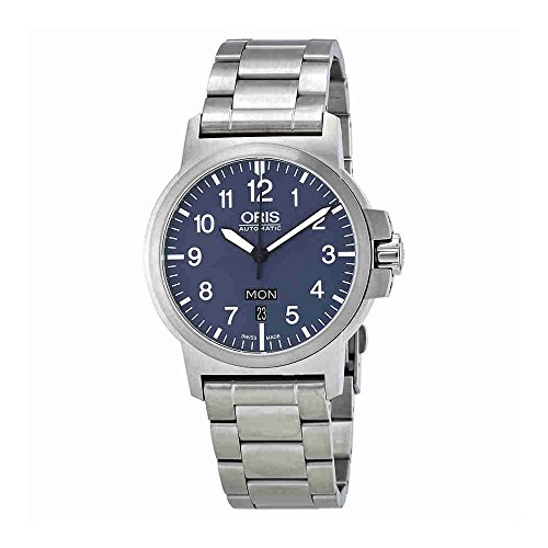 Oris BC3 Advanced Day Date Blue Dial Stainless Steel Men's Watch 73576414165MB