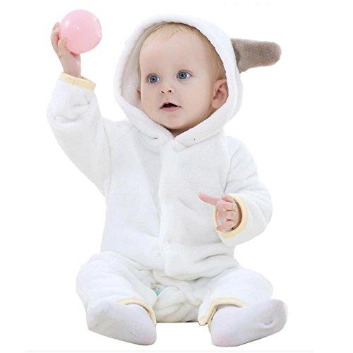 as Bademäntel Frühling und Herbst Weich Flanell Tier Karikatur Body-Anzug Ein Stück Nachthemden 0-2 Jahre alt , 70 (8 Monat Altes Baby-mädchen Halloween-kostüm)
