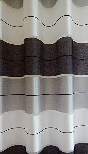 Tenda a occhiello semitrasparente sciarpa a occhiello sciarpa sciarpa decorativa per finestra tenda decorativi a colori strisce balcone di 2 tende con occhielli 145x245 cm agv v8