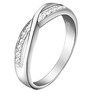 JewelryWe Silver Tone Blossom Wedding Band Mens Ladies Ring For Engagement, Promise, Eternity : UK Size - J