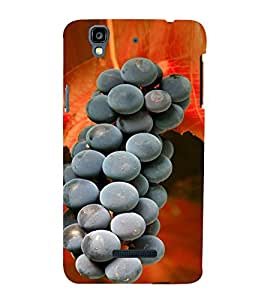 Fuson Premium Back Case Cover Grapes With yellow Background Degined For YU Yureka::Micromax Yureka AO5510