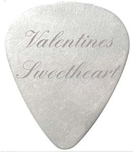 St Valentin Amour de guitare/plectre Noir avec pochette cadeau en velours