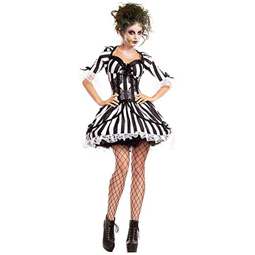 (Shisky Halloween kostüm Damen, Halloween Kostüm Geist Braut Kostüm Vampire Knight Kostüm Cosplay Party Kostüm)