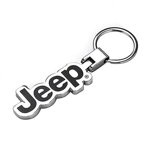 Toppower 3D Schlüsselanhänger Schlüsselring für Jeep -Liebhaber-304 Edelstahl, Sehr dick,unbiegsam,super poliert Schwarz