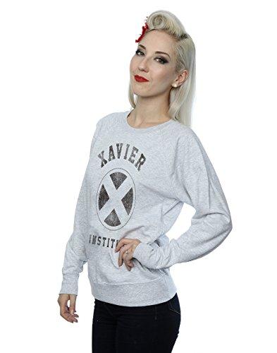 Marvel Femme X-Men Xavier Institute Sweat-Shirt Heather Gris
