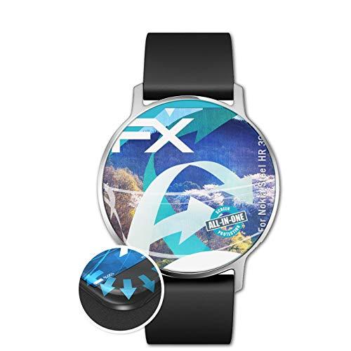 atFoliX Schutzfolie passend für Nokia Steel HR 36 mm Folie, ultraklare & Flexible FX Bildschirmschutzfolie (3X)