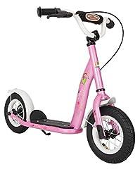 Idea Regalo - BIKESTAR Monopattino Bambini Scooter 2 Ruote da 5 Anni | 10 Pollici con Ruote Grandi | Fiabesca Rosa