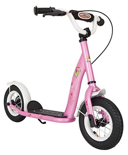BIKESTAR Roller Kinderroller Tretroller Kickscooter mit Luftreifen für Mädchen ab 4 - 5 Jahre ★ 10 Zoll Classic Kinder Scooter ★ Pink