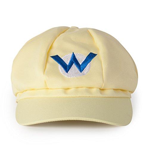 Imagen de katara  gorra de wario para disfraz de super mario bros para niños y adulto, color amarillo alternativa