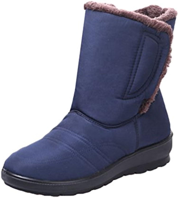 2becd01ca8dd Yiiquan Women s Women s Women s Middle - aged Warm Snow Boots Slipper Shoes  Indoor Outdoor Waterproof Booties B076FC4WGQ Parent 6d6eb7