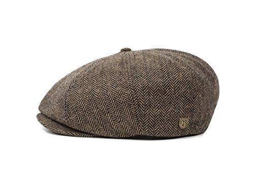 Brixton Unisex Mütze Brood BROOD brown/khaki herringbone, XL BRIMCAPBRO