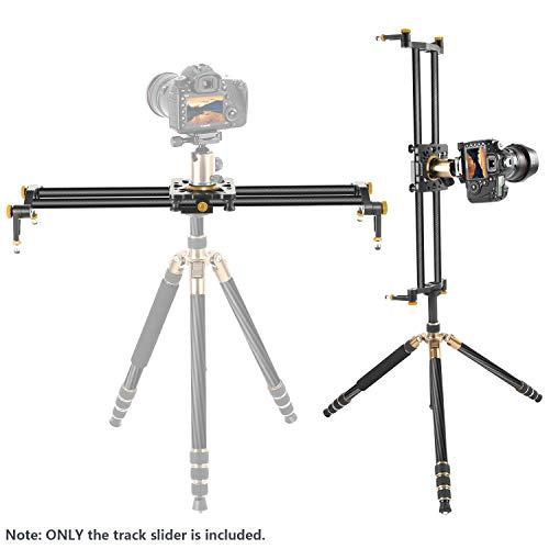 Neewer 100cm Kohlefaser Kameraschieber Video Stabilisator Schiene mit 6 Wälzlagern für DSLR Kamera DV-Videokamerarecorder Film Fotografie Laden Sie bis zu 8kg auf