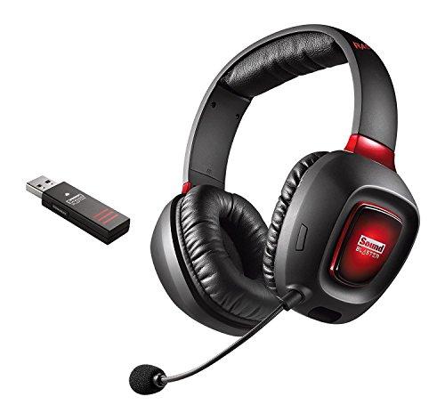 Creative by Fiducia B-WARE Sound Blaster Tactic3D Rage Wireless V2.0 Gaming Headset schwarz für PC, Mac und PS4 abnehmbares Mikrofon, kabellos Kopfhörer Playstation 4 + Speedlink TRAX Y-Splitter H600 Wireless Headset