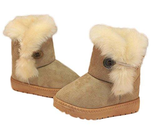 FARALY Kinder Mitte Kalb Boot 2017 Junge Mädchen Schneeschuhe Dicke Super Weiche Kampf Stiefel Kinder Stiefel Warme Baumwolle Schuhe