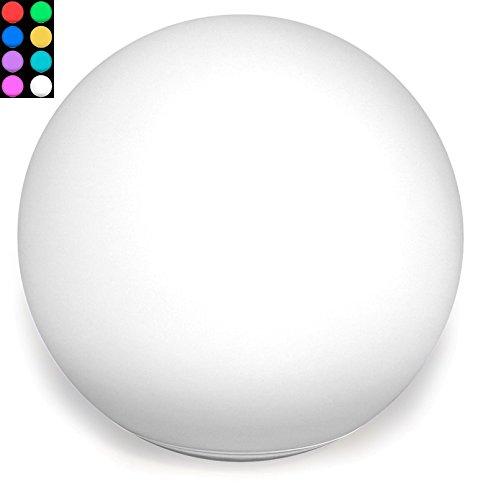 Bonetti LED Solar Kugelleuchte schwimmfähig Farbwechsel Ø 30cm IP67 RGB Kugel Solarlampe Dekoleuchte Außenleuchte Gartenlampe Dekokugel Leuchtkugel