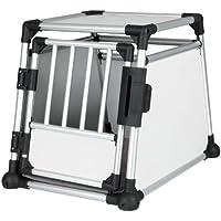 Trixie 39341 Transportbox, Aluminium, M (55 x 62 x 78 cm), Aluminum Gray/Black