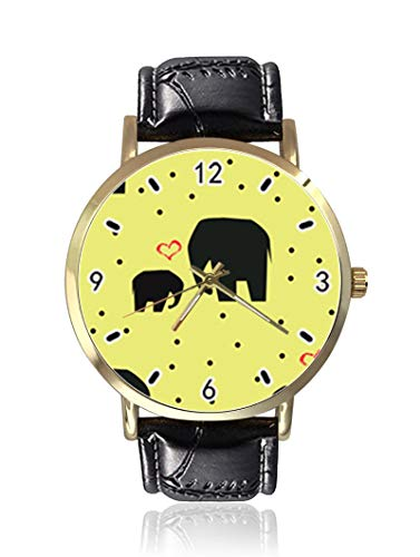 Pequeños y Grandes Elefantes Mujeres Hombres Relojes de Pulsera de Moda Unisex...