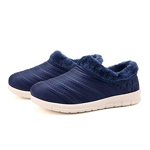 Uomo Fodera Pantofola Pantofole Cotone Pantofole All'aperto Inverno Felpa Caldo Walisen Marina In Pantofole Di Donna 48qwE