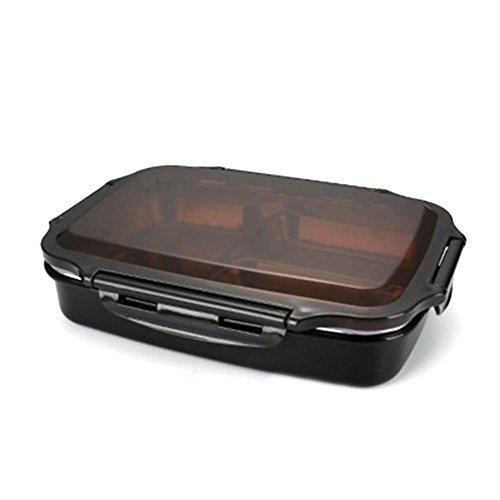 IrahdBowen Edelstahl Mittagessen Bento Box Thermal Insulated Lunchbox Lunchbox mit Mehreren Fächern Easy to Clean Lunch Box Sealed Lunchbox Food Storage Container -