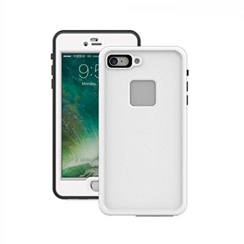 aobiny Handy Case Handy Cover Wasserdicht Schmutz stoßfest Schutzhülle Full Cover für iPhone 7Plus 14cm, Weiß