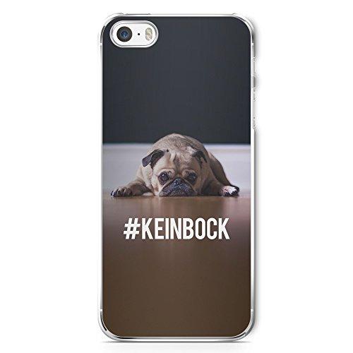 #KeinBock Mops Foto - Handy Hülle für iPhone 5 | 5s | SE - Hard Case Cover Schutzhülle - Hund Hunde Tier Coole Bedruckte Design Lustige Ausgefallene Geile Witzige Spruch - Mops-fotos
