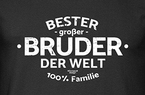 Herren Männer Motiv T-Shirt Geburtstags-Weihnachts-Geschenk Geschenkidee Bruder Bester Bruder der Welt auch in Übergrößen schwarz-02