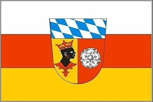 UB Aufkleber Landkreis Freising 18 cm x 12 cm Flagge / Fahne (Autoaufkleber)