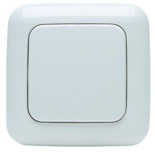ree-Control Standard, 1/2 Funktionen - bis zu 2 Empfängergruppen steuerbar, Funksystem für Haussteuerung, Lichtschalter, Rollladenschalter, 868 MHz (<10mA) bis zu 150m Reichweite, Aufputz, einfache Wandmontage, artkis-weiß, 822702120 ()