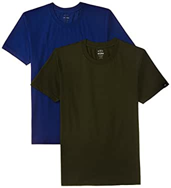Dixcy Scott Men's Cotton T-Shirt (Pack of 2) (Colors May Vary) (UN172_ASSORTED_S)