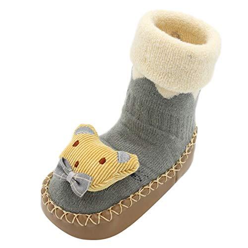 JERFER Babyschuhe JERFER Boden Socken Rutschfeste Gummisohlen Schuhe-Premium Weich Leder Babyschuhe Jungen und Mädchen Babyschuhe - Neugeborene bis 1-3.5Jahre (11 EU, A)