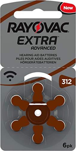 60 Rayovac Extra Advanced Nr 312 Hörgerätebatterie Zinc Air (P312 PR41 ZL3) mit 2 Stück LUXTOR® Reinigungstücher für Hörgeräte und Otoplastiken