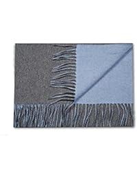 Bruce Field - Echarpe réversible bicolore en pur cachemire tissé - Modèle 2712